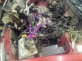 Работы с проводкой Subaru Forester под капотом