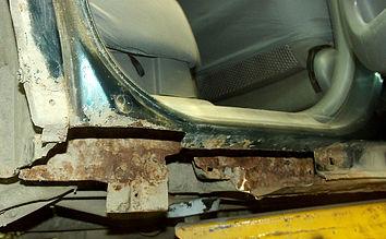 Вырезанные пороги Honda CR-V