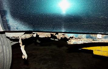 Проржавевшие пороги Honda CR-V