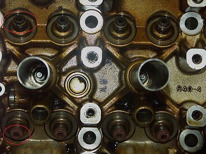 Старые маслосъемные колпачки Honda Accord