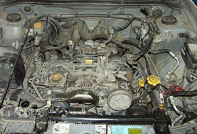 Неисправный двигатель Subaru Forester