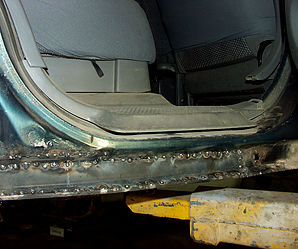 Приваренные новые пороги Honda CR-V