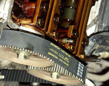 Установленный ремень ГРМ Honda Accord