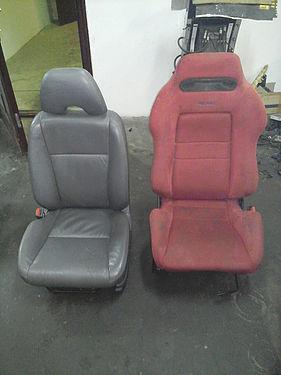 Старое и новое сиденья